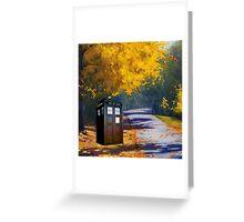 Tardis Autumn Greeting Card