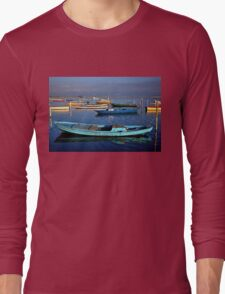 Gaitas in the lagoon of Messolonghi Long Sleeve T-Shirt