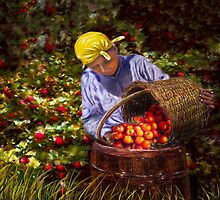The Apple Picker by Wib Dawson
