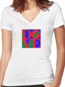 Dove [ in the name of peace ] Women's Fitted V-Neck T-Shirt
