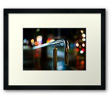 handrail at night Framed Print