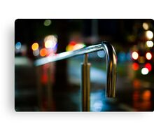 handrail at night Canvas Print