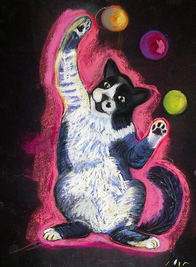 Juggling Cat by Ann Marie Hoff