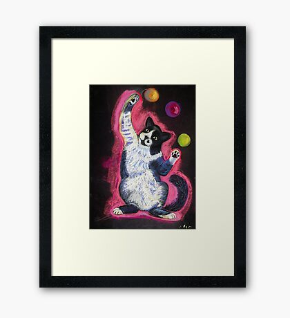 Juggling Cat Framed Print