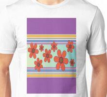 líneas y flores Unisex T-Shirt