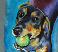 Heinz 57 Black and Tan Dog by Ann Marie Hoff