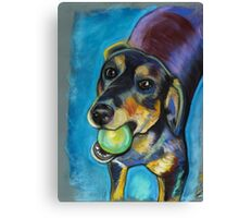 Heinz 57 Black and Tan Dog Canvas Print