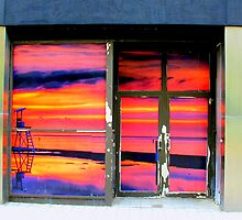 Vacant Store Sunset by David Schroeder
