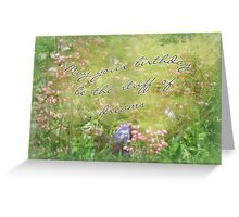 Birthday Greeting Card - Coral Bells and Irises Greeting Card