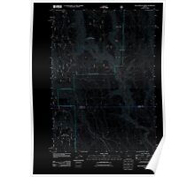 USGS Topo Map Oregon Buck Trough Spring 20110801 TM Inverted Poster