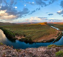 sunset at big bend  by Les Pink