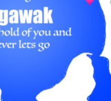 Agawak on Blue Lake Sticker