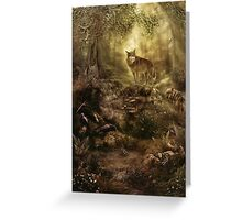 The Kin, Wolves in the Forest Greeting Card