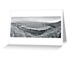 Serenity in black and white Greeting Card