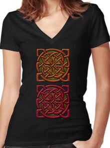 Ni ceart go cur le cheile Women's Fitted V-Neck T-Shirt