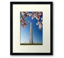 Springtime at Washington Monument Framed Print