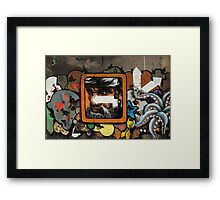 Graffiti wall, Glasgow. Framed Print
