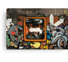Graffiti wall, Glasgow. Canvas Print