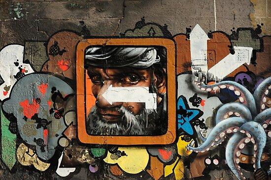 Graffiti wall, Glasgow. by James1980