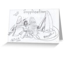 Supplication Greeting Card