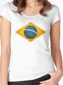 Brazil flag bresil brasil Women's Fitted Scoop T-Shirt