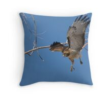 Red-tailed Hawk ~ Tactical Measures Throw Pillow