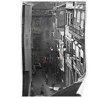 oporto street scene Poster