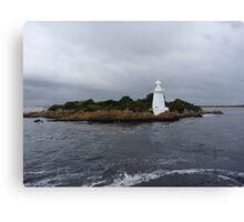 Lighthouse on Sarah Island - tasmania  Canvas Print