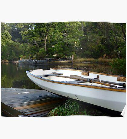 Boats at Risby Cove -Strahan -Tasmania Poster