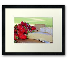 strawberries & cheese Framed Print