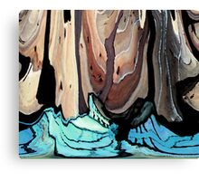 Trees Floating on Waves Canvas Print