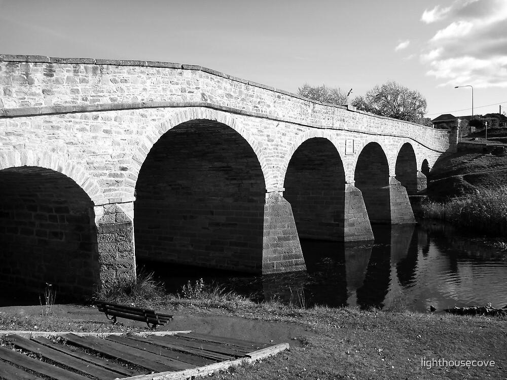 Oldest bridge in Australia-built 1823 - Tasmania  -  B&W by lighthousecove