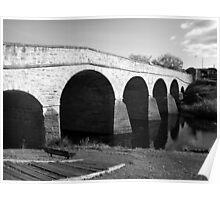 Oldest bridge in Australia-built 1823 - Tasmania  -  B&W Poster