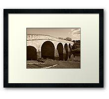 Oldest bridge in Australia-built 1823 - Tasmania  -  sepia Framed Print