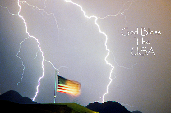Lightning Strikes God Bless the USA by Bo Insogna