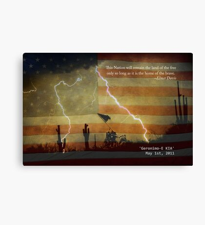 Operation Geronimo-E KIA Canvas Print