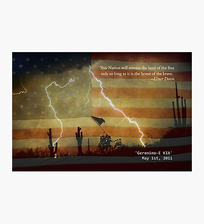 Operation Geronimo-E KIA Photographic Print