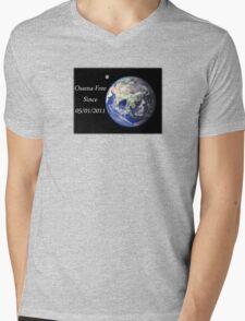 The World - Osama-Free Mens V-Neck T-Shirt