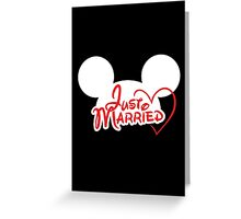 Just Married Mouse Ears Greeting Card