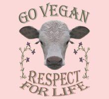 GO VEGAN - RESPECT FOR LIFE One Piece - Short Sleeve