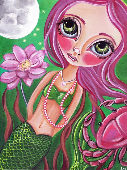 &quot;Cancer (Zodiac Mermaid)&quot;  by Jaz Higgins