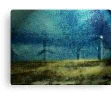 Windmills in Moonlight Canvas Print