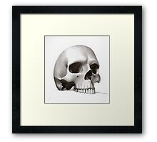"""call me morbid...""  realistic pencil skull Framed Print"