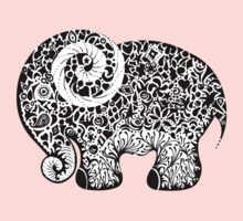 Elephant Doodle One Piece - Long Sleeve