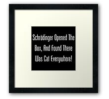 Schrodinger Opened The Box, And Found Cat Eveywhere! Framed Print