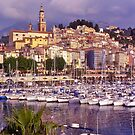 Boat harbour, old town, Menton, Riviera, France. by johnrf