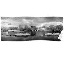 France, A Weir on the Mayenne River (version 2) Poster