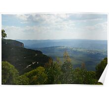 Blue Mountains Valley View Poster