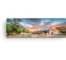Ruin Of Sunrise Panorama Canvas Print