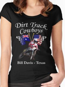 Dirt Track Cowboys Option 1 Women's Fitted Scoop T-Shirt